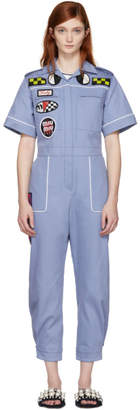 Miu Miu Blue Denim Mechanic Jumpsuit