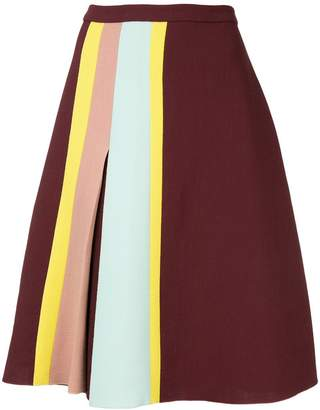 DELPOZO stripe detail skirt