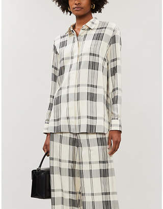 Theory Checked relaxed-fit woven shirt