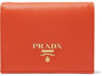 Prada Textured-leather Wallet - Orange