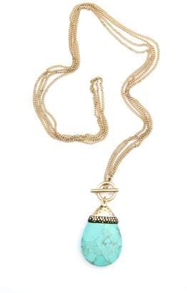 Bijoux du Monde Teardrop Turquoise Necklace $59 thestylecure.com