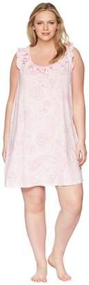 Lauren Ralph Lauren Plus Size Sleeveless Ruffle Gown Women's Pajama