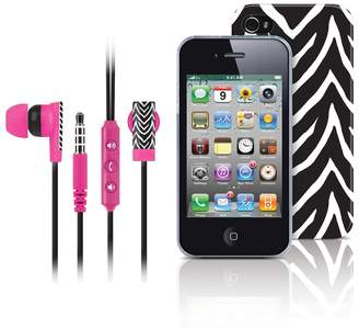 DAY Birger et Mikkelsen Merkury Innovations Black Zebra iPhone 4 Headset & Cell Phone Case