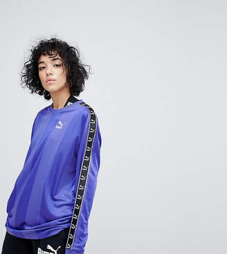 Puma Exclusive To Asos Football Jersey In Purple With Taped Side Stripe