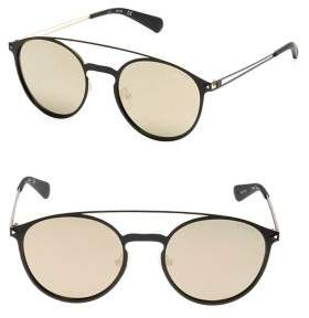 GUESS 53MM Double Bar Round Sunglasses