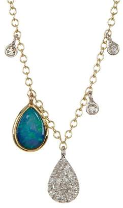 Meira T 14K Yellow Gold Opal Drop Necklace