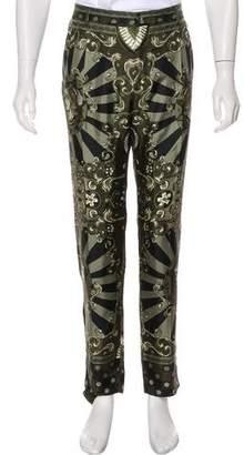 Dolce & Gabbana Silk Spartan Print Pants
