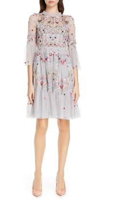 Needle & Thread Dreamers Embroidered Tulle Dress