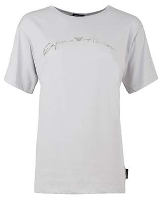 Emporio Armani Oversized Signature Logo T-shirt Colour: BLACK, Size: L