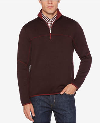 Perry Ellis Men's Knit Quarter-Zip Sweatshirt