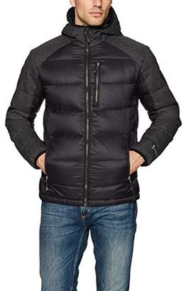 Free Country Men's Down Puffer Jacket with Poly Heather Trim