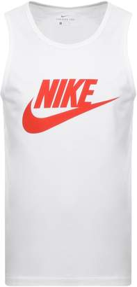 Nike Futura Icon Logo Vest T Shirt White