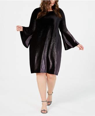 Alfani Plus Size Velvet A-Line Dress