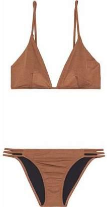 Melissa Odabash Bali Cutout Metallic Triangle Bikini