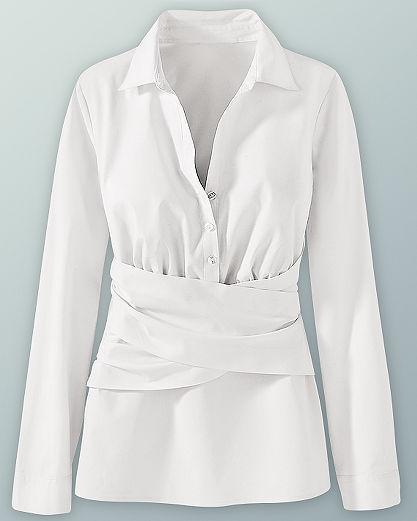 Sash-tie blouse