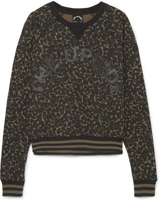 The Upside Printed Cotton-jersey Sweatshirt - Green
