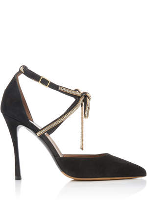 Tabitha Simmons Marilyn Bow-Embellished Suede Pumps