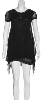 Sacai Knee-Length Paneled Dress
