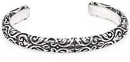 King Baby Studio Men's American Voices Engraved Sterling Silver Cuff Bracelet