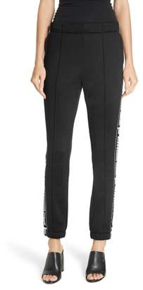 Alexander Wang Logo French Terry Track Pants