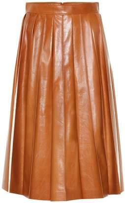 Bottega Veneta Leather midi skirt