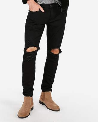 Express Skinny Black Destroyed Stretch+ Jeans