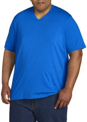 Men's Big and Tall Wicking Jersey Short Sleeve V- Neck Tee, Up to size 7XL Men's Wicking Jersey Short Sleeve V Neck Tee