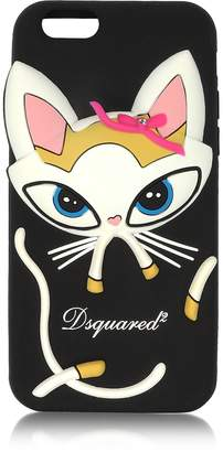 DSQUARED2 Black Silicone iPhone 6 Cover w/Cat