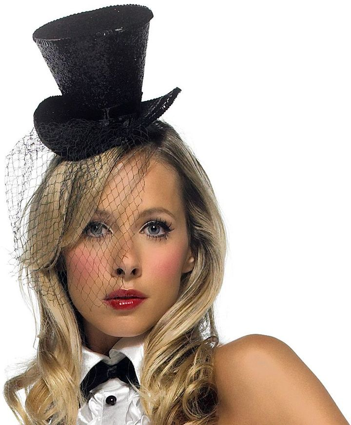 Mini Veiled Top Hat - Adult