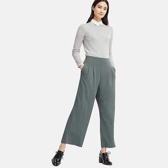 Uniqlo Women's Ponte Tuck Wide Pants