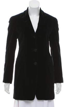 Donna Karan Velvet Notch-Lapel Blazer