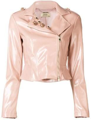 Liu Jo crystal embellished biker jacket