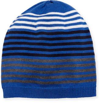 Eileen Fisher Merino Striped Beanie Hat