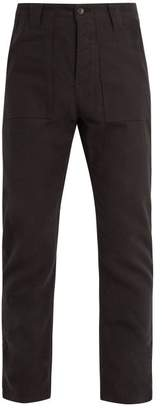 The Lost Explorer - Fatigue Cotton And Wool Blend Trousers - Mens - Black