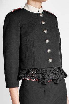 Alexander McQueen Virgin Wool and Cotton Jacket $3,073 thestylecure.com