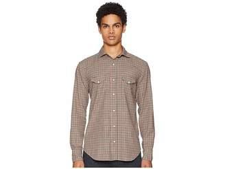 Eleventy Mini-Check Snap Western Shirt