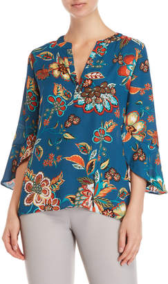 Chenault Floral Flutter Sleeve Blouse