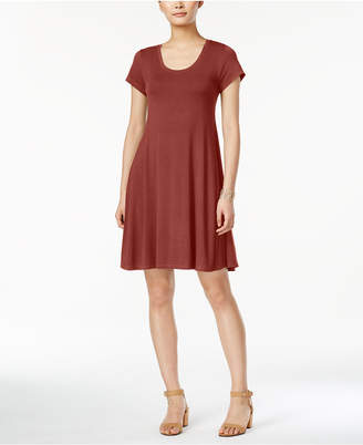 Style&Co. Style & Co Short-Sleeve A-Line Dress