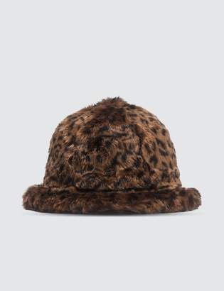 Kangol Faux Fur Casual Bucket Hat