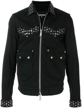 DSQUARED2 studded denim jacket