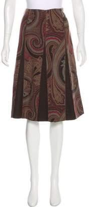 Etro Printed Knee-Length Skirt