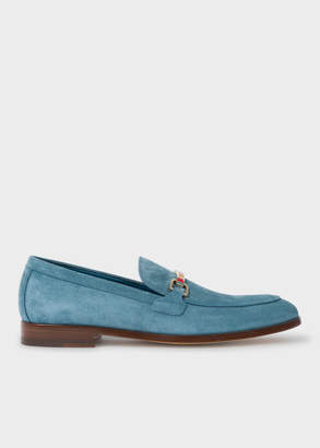 Paul Smith Men's Light Blue Suede 'Grover' Loafers