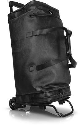 Alviero Martini 1a Prima Classe - Geoblack Duffel Travel Bag w/Wheels