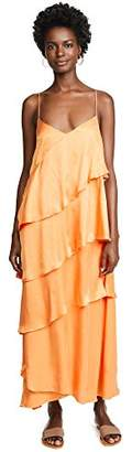 Mara Hoffman Women's Salome V Neck Ruffled Ankle Dress