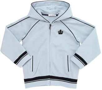 Dolce & Gabbana Zip-Up Cotton Hooded Sweatshirt