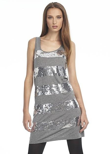 Juicy Couture Sequin Stripe Tank Dress
