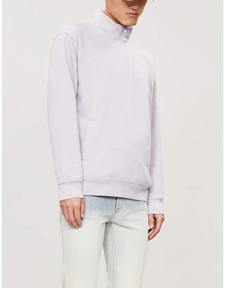 Obey Funnel-neck cotton-blend sweatshirt