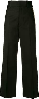 Helmut Lang side stripe cropped trousers