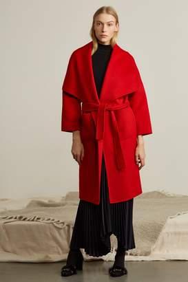Genuine People Oversized Shawl Collar Wool Coat