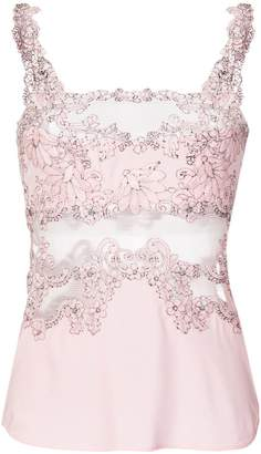 Ermanno Scervino sheer lace panel cami
